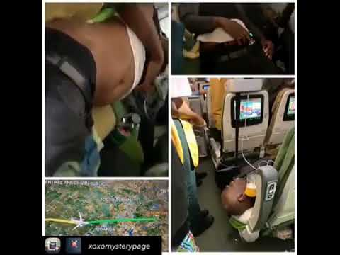 Two Nigerian men die after drug they swallowed burst open in their stomach during a flight