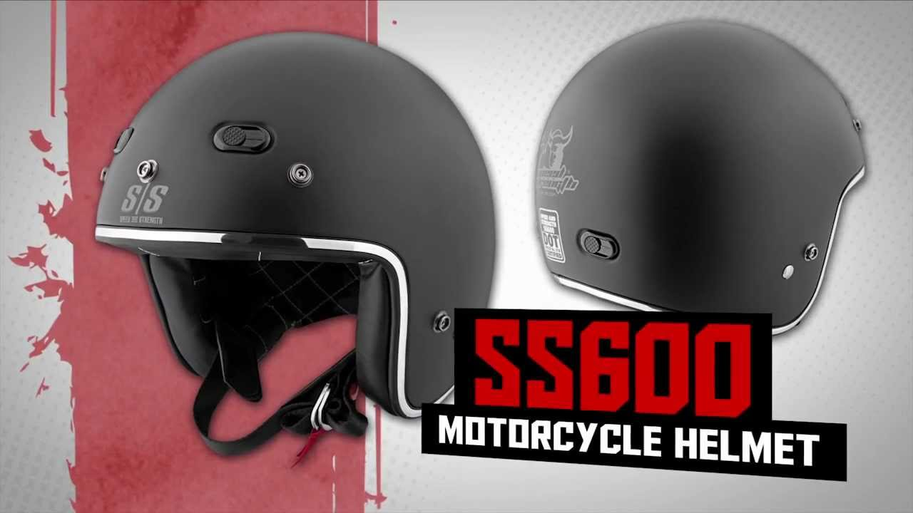 9d26fa3b Speed and Strength SS600 Black Nine Open Face Helmet