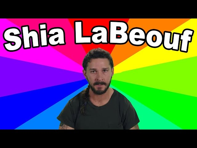 """The meaning of HE WILL NOT DIVIDE US - A look at the """"art"""" and memes of Shia LaBeouf"""