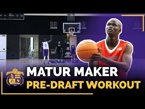 Mississauga Prep Forward Matur Maker Lakers Pre-Draft Workout