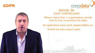 What are joint controllers? Part 14 in our Guide to GDPR in 1 minute bites