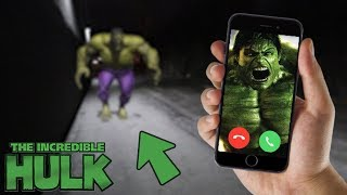 CALLING THE HULK ON FACETIME AT 3 AM!! (INCREDIBLE HULK GETS MAD)