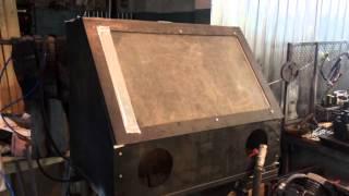 Самодельный пескоструйный аппарат. Пескоструйная камера. Камера струйной очистки КСО #Пескоструй(, 2016-02-08T14:18:11.000Z)