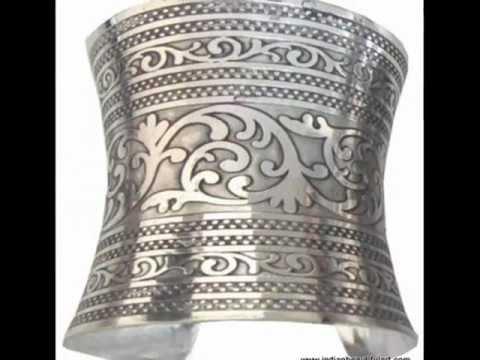 Fancy German Silver Cuff Bracelet Jewelry From India