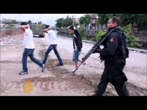 Brazil police crack down on drug gangs