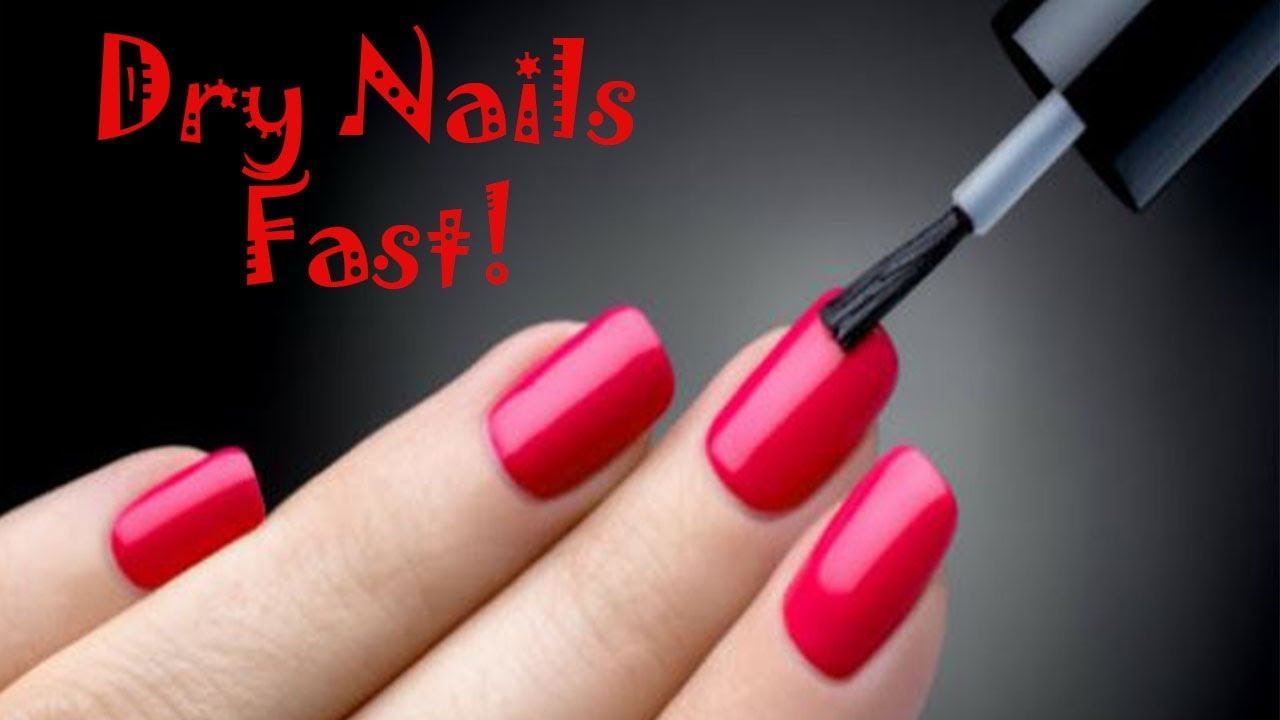 Dry Nails FASTER - 4 Ways To Dry Your Nails Fast!! ( SECONDS ) - YouTube