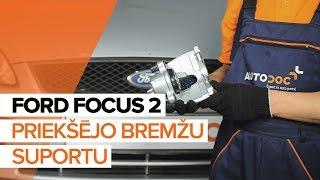 Kā mainīties aizmugurē kreisais Bremžu suports FORD FOCUS: video pamācības
