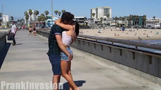 Best Kissing Prank Ever and Butt Squeezing at Venice Beach | Chris Monroe | Kissing Prank | Funny