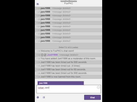 Twitch Chat Ban