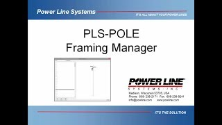 PLS-POLE Framing Manager