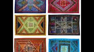 Traditional Indian Wall Hangings Tapestry, Indian Vintage Sari Wall Hangings.wmv Thumbnail