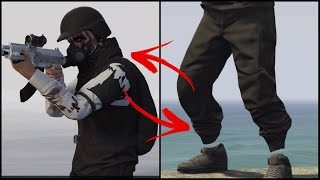 """GTA 5 *DOPE MODDED OUTFIT* """"RIPPED SHIRT & BLACK JOGGERS"""". [AFTER 1.43 PATCH]"""