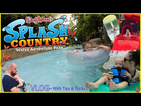 Splash Country Vlog w Tips & Tricks- Dollywood's Water Park - Pigeon Forge / Sevierville Tennessee