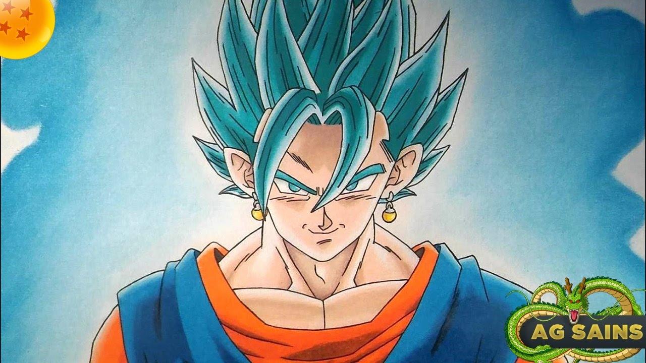 Cómo Dibujar A Vegetto Super Saiyan Blue