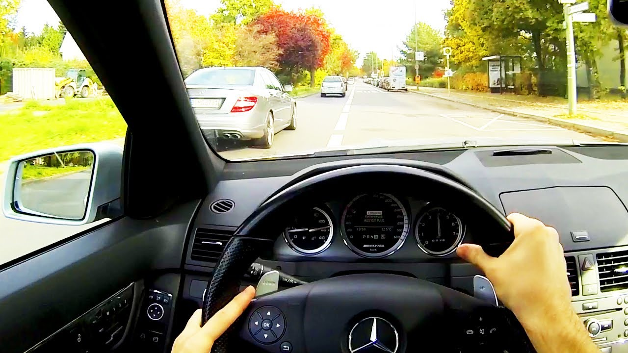 Mercedes C63 Amg 0 60 >> Mercedes C63 AMG Drive in the City POV Onboard ...