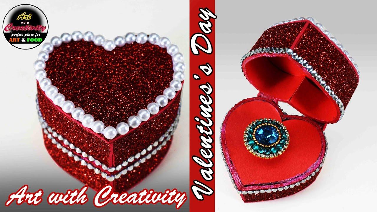 Valentine Day Ring Box Heart Box Art With Creativity 130 Youtube