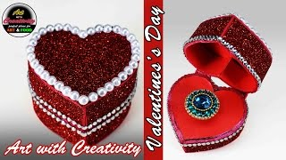 valentine day ring box | Heart box | Art with Creativity 130