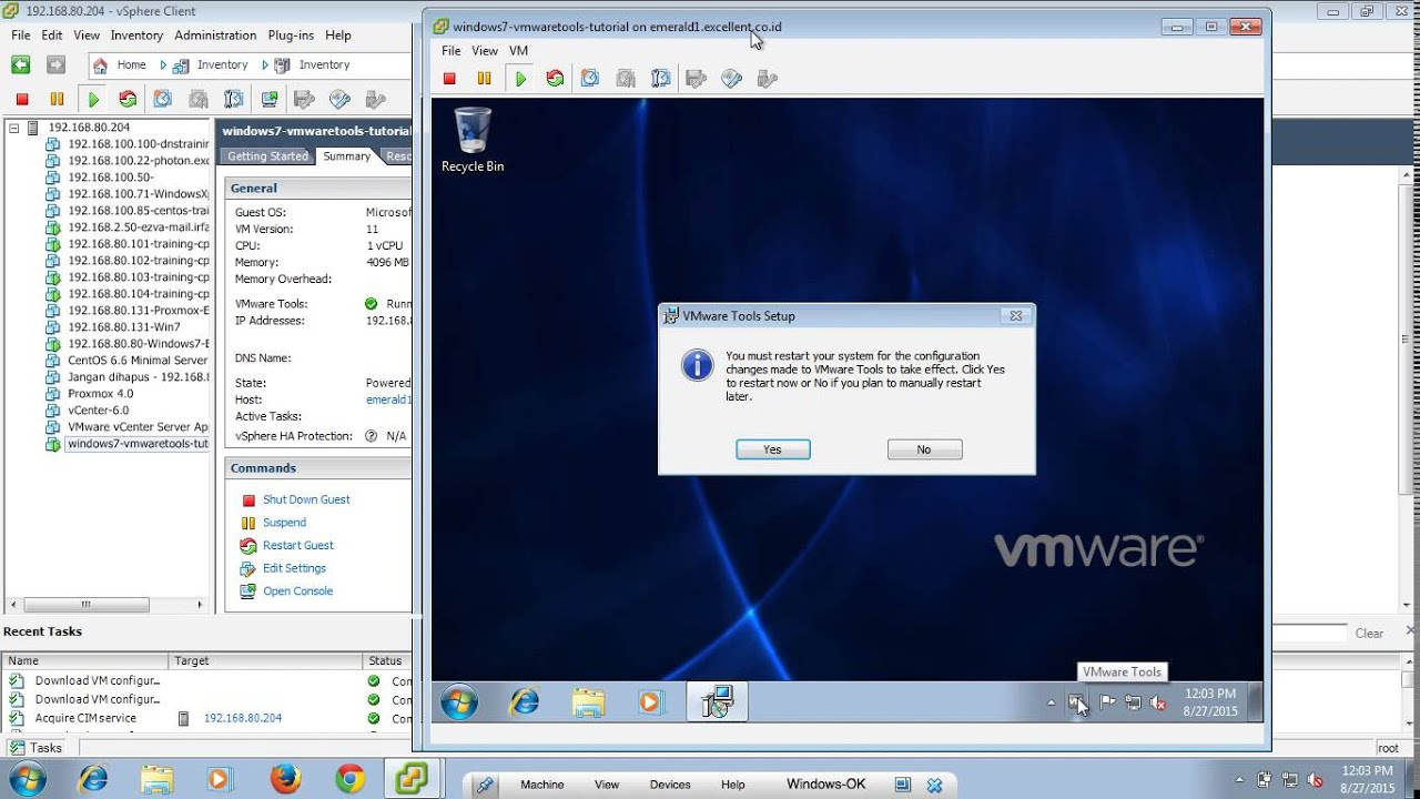 Disconnect, log off, and reset option under vmware view vs.