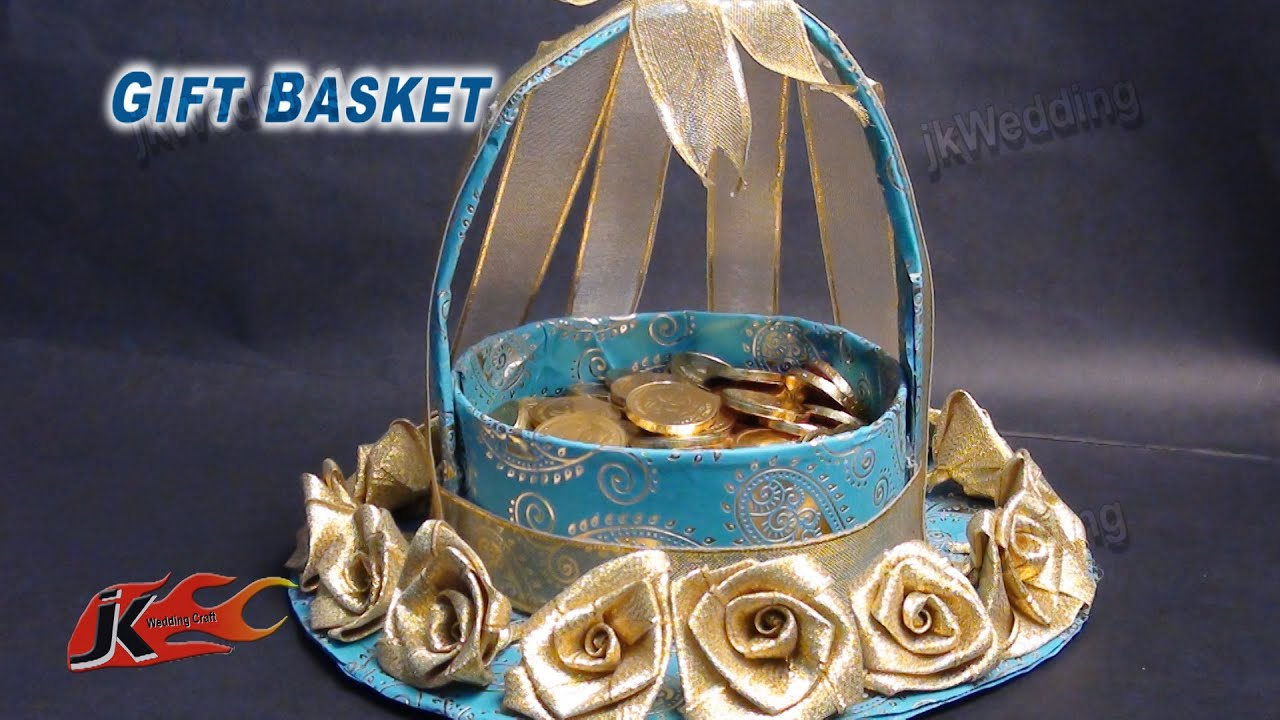 Diy Wedding Gift Basket How To Make Jk Wedding Craft 013 Youtube