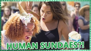 Human Sundae Challenge | Do It For The Dough w/ Tessa Brooks and Anthony Trujillo
