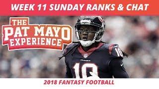 2018 Fantasy Football Rankings Update Live —Week 11 DraftKings Picks, Injuries & Viewer Chat