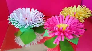 Как Сделать Осенние Поделки Цветной бумаги Осенние Цветы Астра Хризантема Подарки