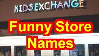 Funny Store Names