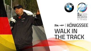 Walk on the track with Steven Holcomb | BMW IBSF World Championships 2017