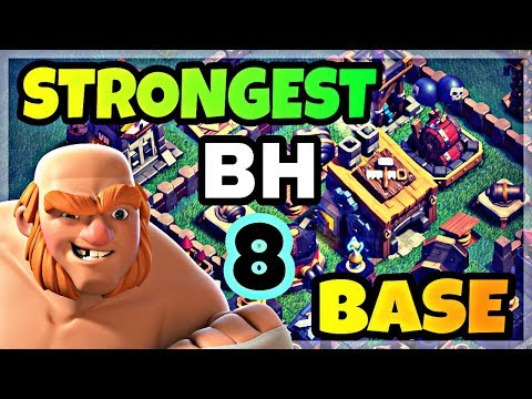 STRONGEST BUILDER HALL 8 BASE LAYOUT WITH REPLAY | BH8 BEST TROPHY BASE IN COC | CLASH OF CLANS