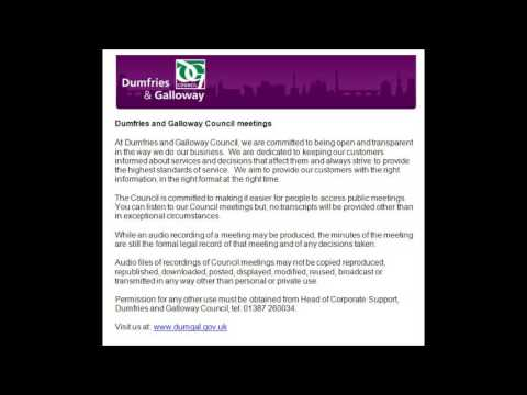 Audio of Dumfries and Galloway Council - 11 February 2016
