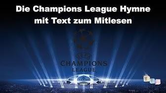 Die Champions League Hymne mit Text - zum Mitlesen