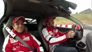Hot laps Alonso-Massa front camera Ferrari (includes an Alonso's middle finger)