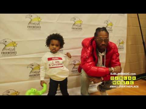 Future And Baby Future At The Free Wishes Foundation Christmas Drive