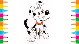 Cómo Dibujar un Perro de dibujos animados para Niños muy fácil paso a paso