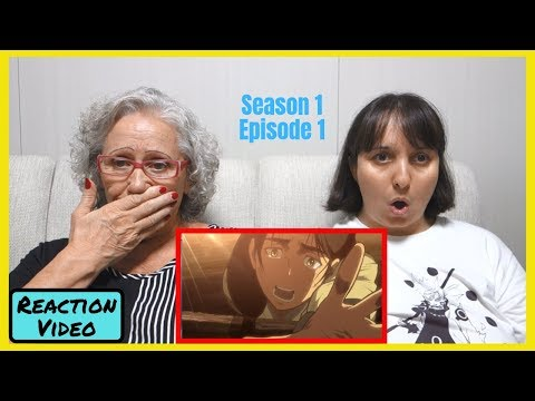 My Mother Watches For The FIRST TIME Shingeki No Kyojin (Episode 1) Reaction Video! | 【ENG SUB】
