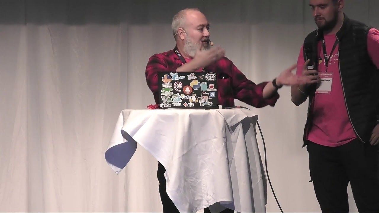 Image from PyCon Sweden 2019 closing remarks