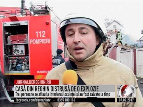 CASĂ DIN REGHIN DISTRUSĂ DE O EXPLOZIE (2017 02 07)