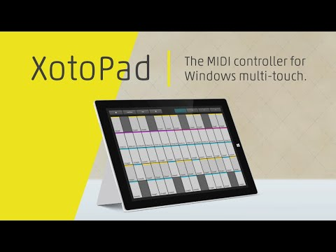 XotoPad - The MIDI controller for Windows touch-screens