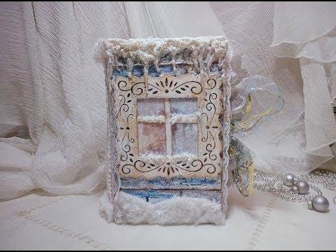 Russian Vintage Christmas Junk Journal/Altered book (SOLD) #veraazimova #junkjournal #mixedmedia