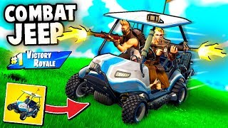 COMBAT JEEP - NEW Special Forces Light Transport Vehicle (Fortnite Funny Moments Gameplay Golf Cart)