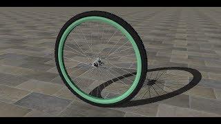 Sketchup Speed Drawing  - Bicycle wheel