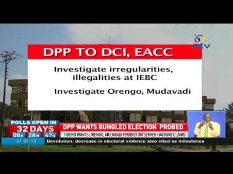 Tobiko wants Orengo, Mudavadi probed on server hacking claims