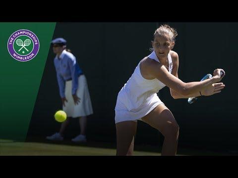 Karolina Pliskova vs  Mihaela Buzarnescu 3R Highlights | Wimbledon 2018
