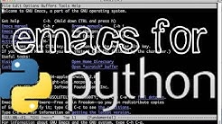 Emacs as a Python editor and IDE (Part 1): Installing elpy mode