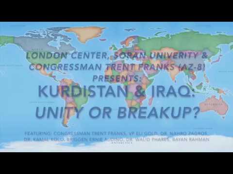 London Center, Soran University, & Congressman Trent Franks Discuss Kurdistan & Iraq