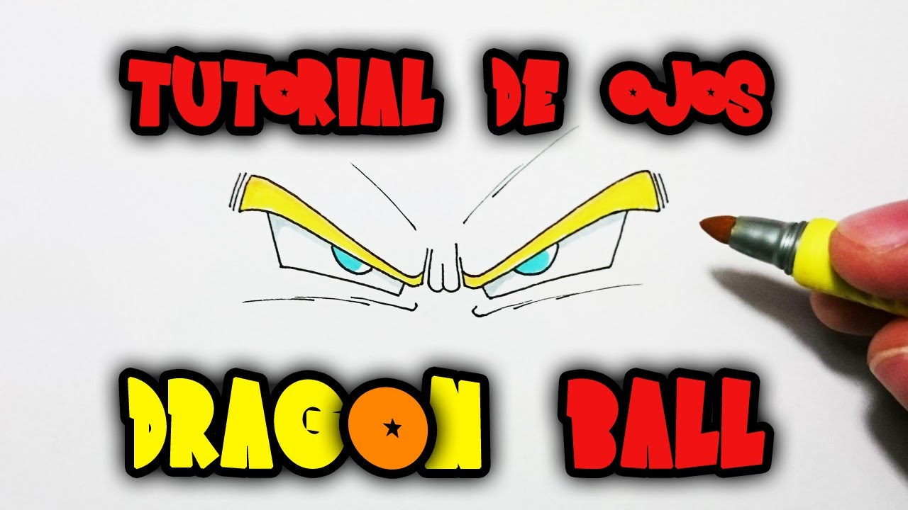 Cmo dibujar ojos Dragon Ball  Tutorial  YouTube