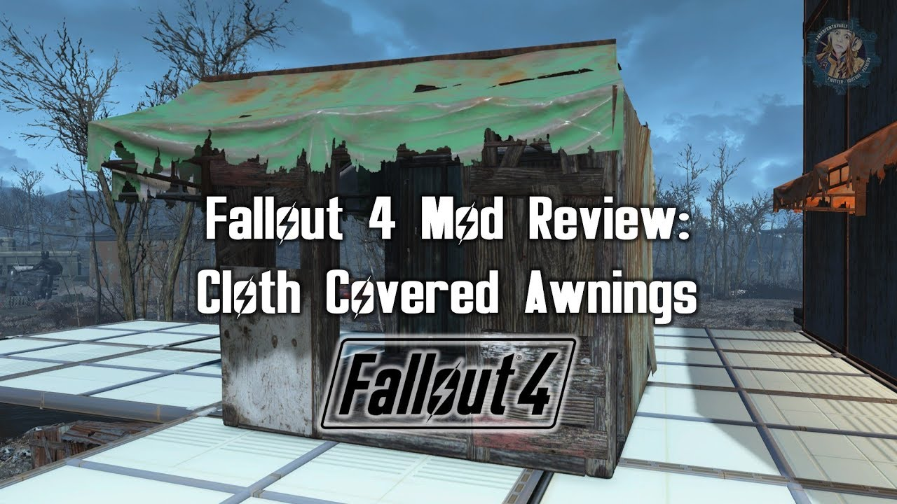 Ps4 Cloth Covered Awnings Fallout 4 Mod Review Youtube