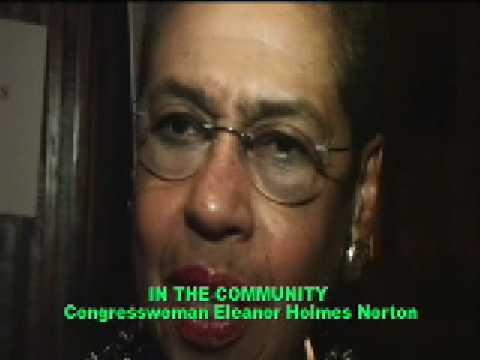 Congresswoman E  Norton speaking on Pastor W Fauntroy