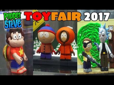 McFarlane Toys Booth Steven Universe, South Park, Rick and Morty TOY FAIR 2017 lego FUNKO