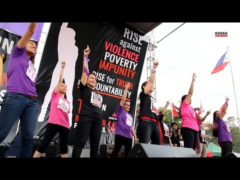 "Gabriela Leads ""ONE BILLION RISING FOR REVOLUTION"" 2015"
